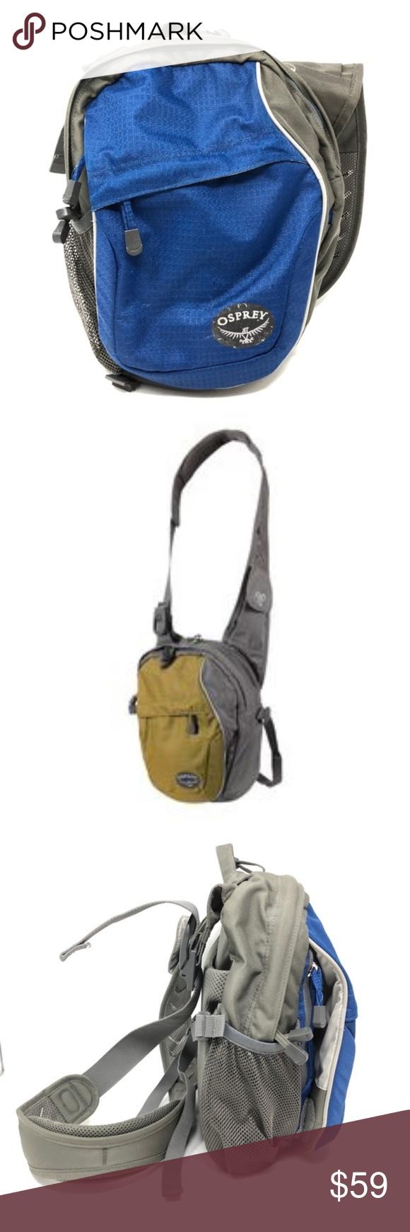 top brands best supplier running shoes Osprey Veer Vertical Shoulder Bag blue & grey EUC. Built almost ...