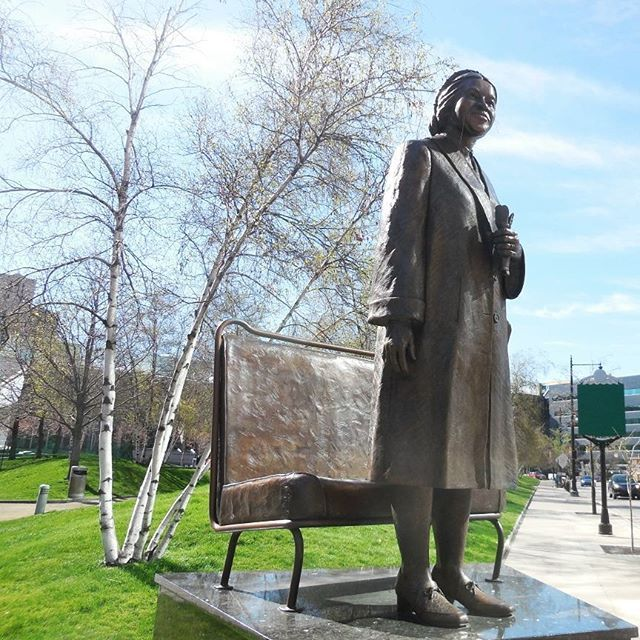 In the city of GrandRapids Michigan there is a statue