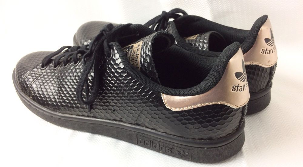 Adidas Stan Smith Black Rose Gold Sneaker Trainer US Sz 9 Women Athletic  Shoes  32fba5f95