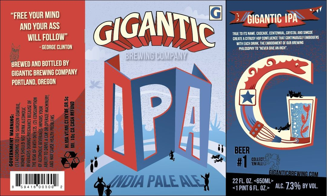 Gigantic IPA by Gigantic Brewing Company Portland, OR