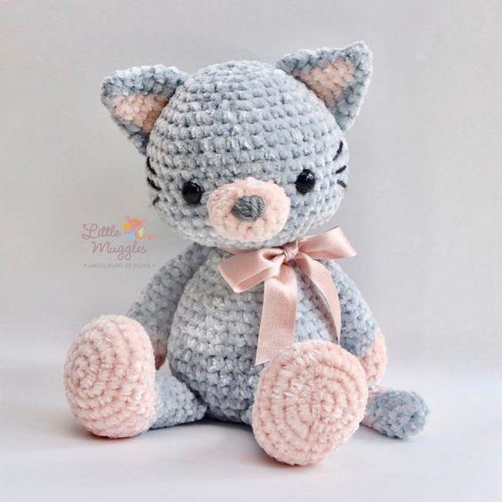 PATTERN: Kaylie the Kitten - Crochet cat pattern - amigurumi cat ... | 564x564
