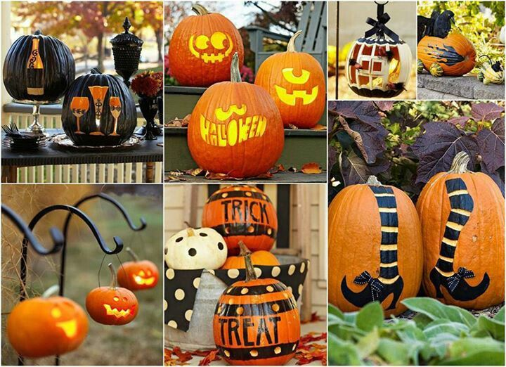 Pumpkins decoration Decoración  DIY Pinterest Decoration - halloween pumpkin decorations