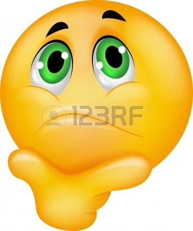 emoticon smiley thinking stock vector joseph fernandes pinterest rh pinterest com Girl Smiley Face Clip Art Crazy Smiley Face Clip Art