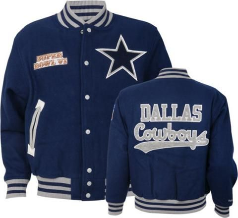 low priced a7edc 301de Dallas Cowboys Mitchell & Ness Halfback Wool Jacket Small ...