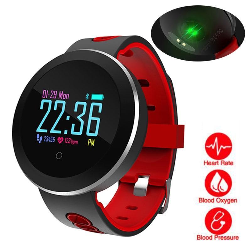 Heart Rate Monitor Smart Watch Sports Blood Pressure Pedometer Running OLED Touch Waterproof Fitness Intelligent Watch Men Women #sportswatches