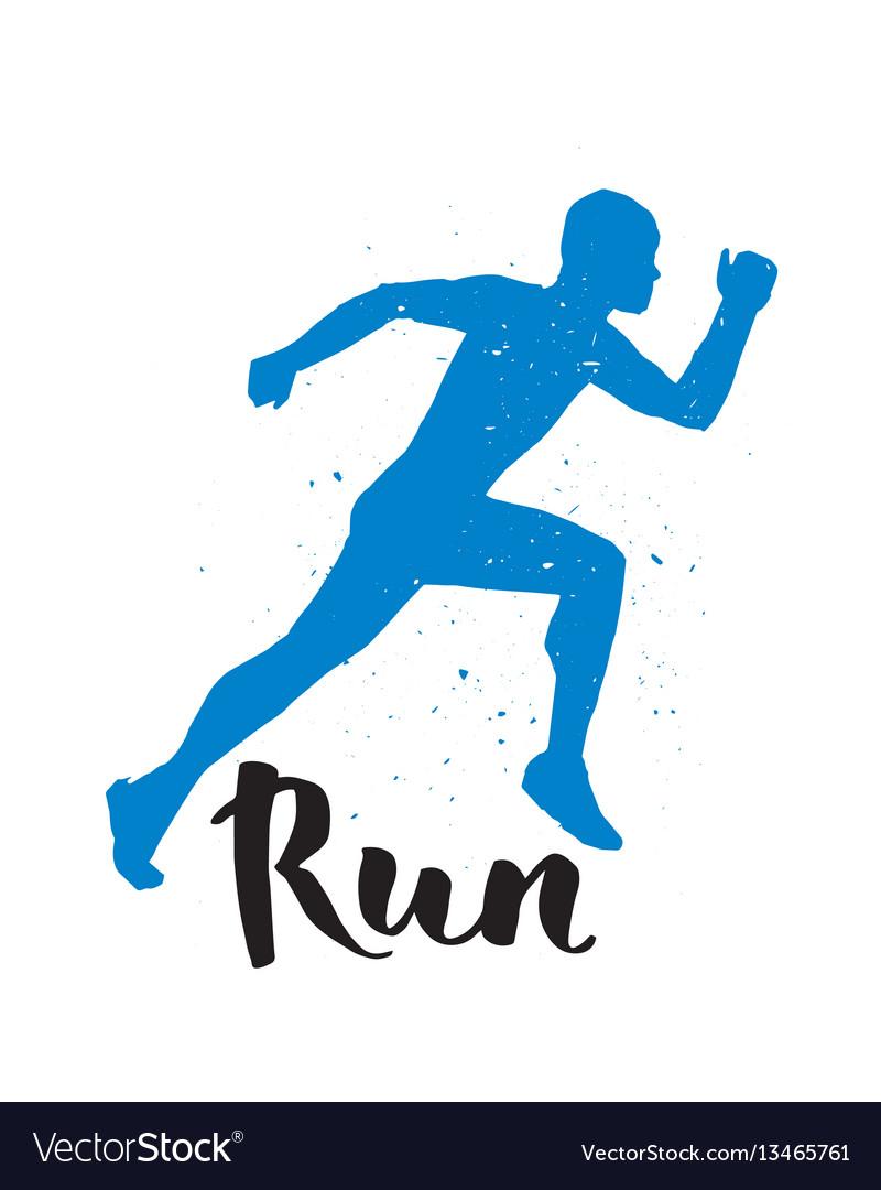 Running Runner Man Marathon Logo Jogging Emblems Vector Image Running Logo Running Man Logo Vector Logo