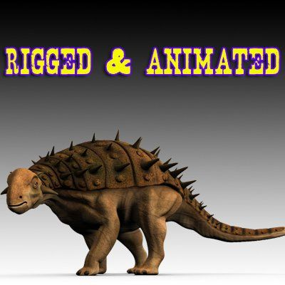 3D Model Ankylosaurus c4d, obj, 3ds, fbx, ma, lwo 36807