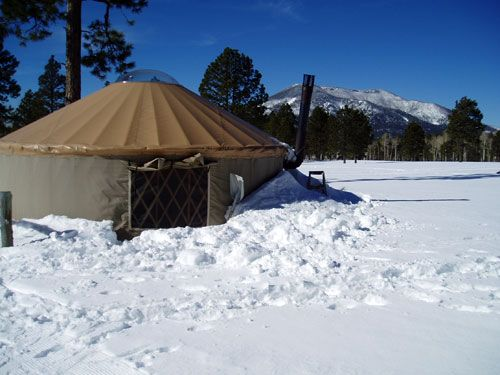Flagstaff Nordic Center Yurt Located At The Foothills Of