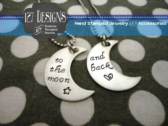 #bestfriends #moon #necklace awesome little gift to give to your #bff! Check out our store and share with your friends!