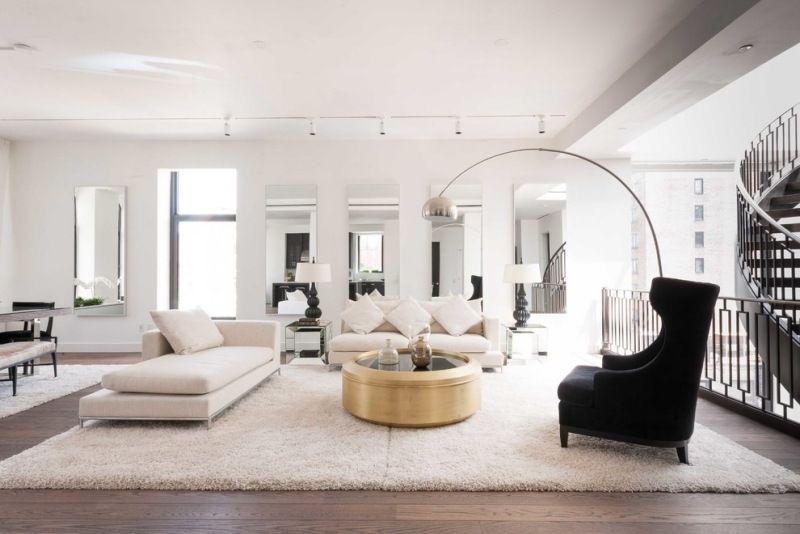 Gold Kaffeetisch im modernen Wohnzimmer FavesInterests