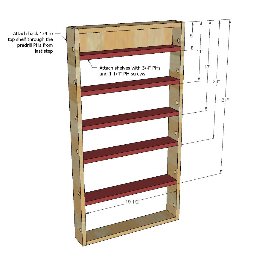 Spice Rack Free Plans Pantry Pantry Door Storage Door Spice