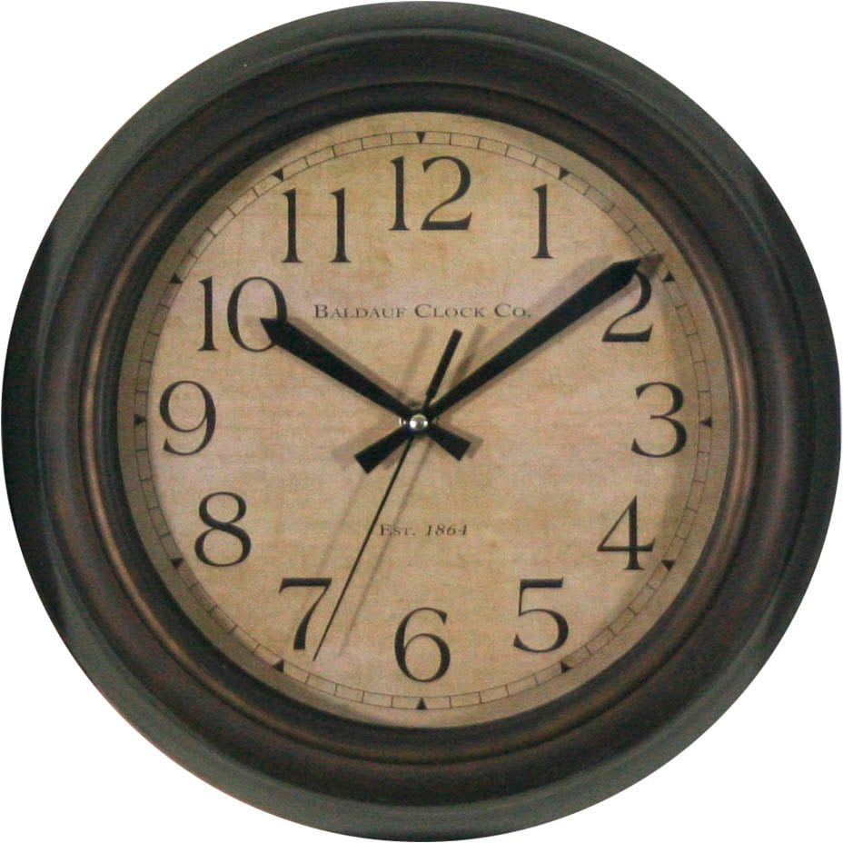Allen Roth Analog Round Indoor Wall Clock Lowes Com In 2021 Wall Clock Analog Wall Clock Round Wall Clocks Oil rubbed bronze wall clock