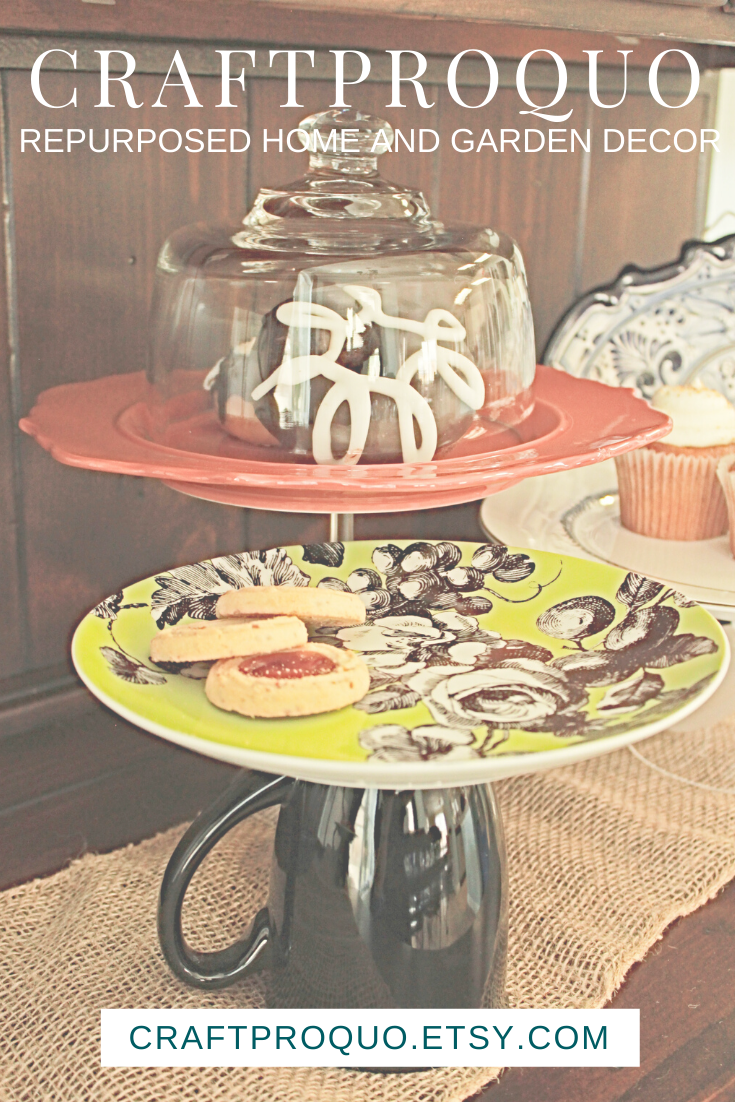 Halloween Cake Stand 11 In Cake Stand Upcycled Cupcake Etsy Jewelry Dish Upcycle Decor Halloween Cakes