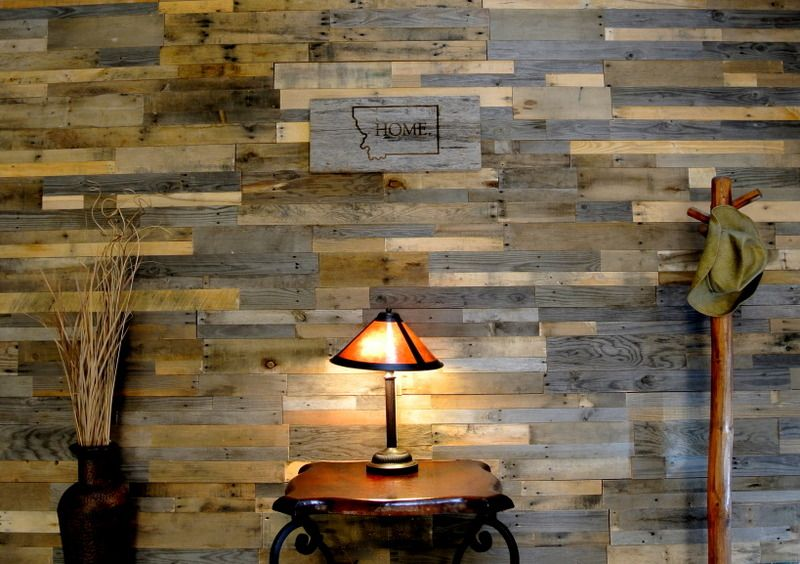 reclaimed pallet wood wall - Google Search