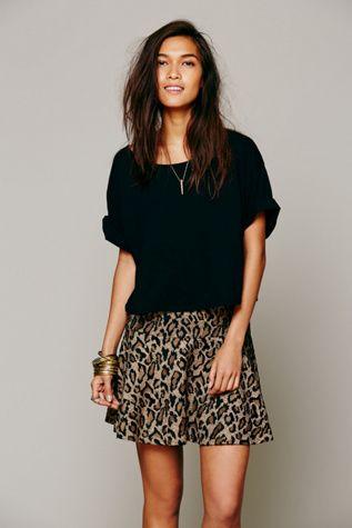 Free People cheetah skirt