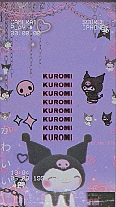Kuromi Wallpaper Retrô