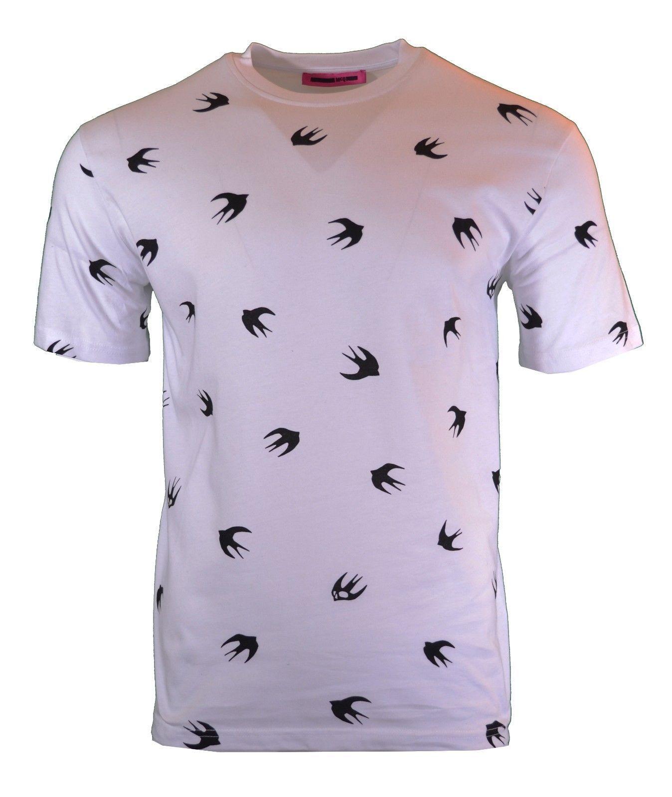 MCQ VELOUR SWALLOW SWEATSHIRT JUMPER  BLACK ALEXANDER MCQUEEN BIRD PRINT RARE