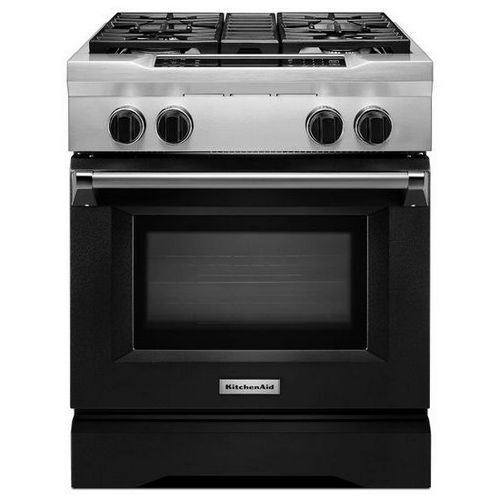 Kitchenaid Deep Recessed 6 Burner Self Cleaning Convection Single Oven Dual Fuel Range Signature Red Common 36 Inch Red Kitchen Accessories Red Kitchen Single Oven