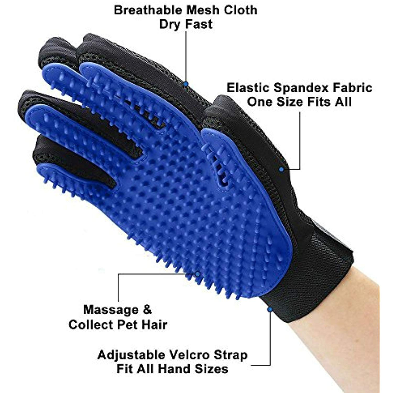 Shed No More (Premium Version) Grooming Glove Soft and