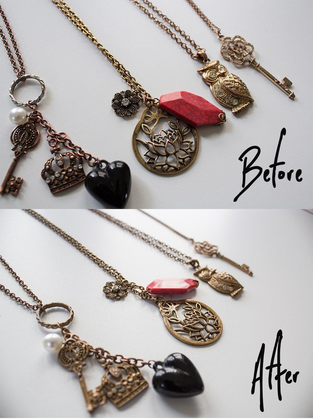 How to Fix Tarnished Faux Gold Jewelry with Spray Paint BEARD