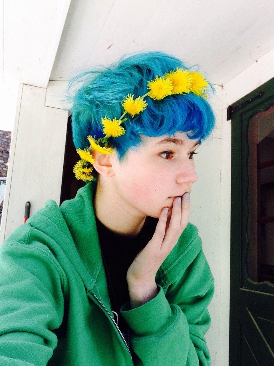 Blue Hair Tumblr Blue Hair Tumblr Blue Hair Short Blue Hair