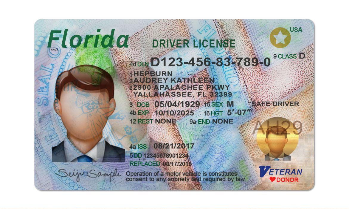 Florida Driver License Psd Template