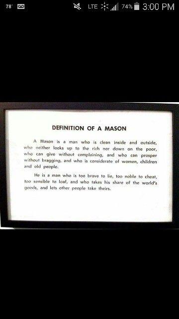 Definition Of A Mason.