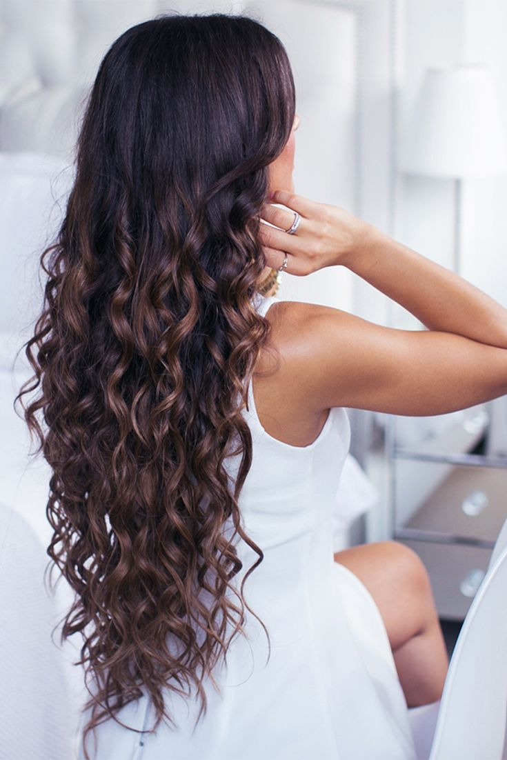 Perfect long curled hair with Ombre Chestnut Luxy Hair Extensions <3 Photo of @mimiikonn