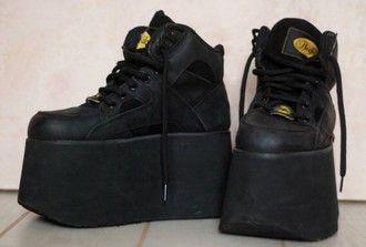 58f717deba45 shoes rare black grunge 90s style vintage pale soft grunge dark aesthetic  tumblr
