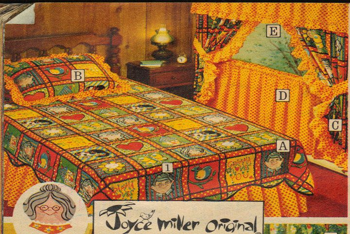 Wow, that's loud. 1973 I actually had this bedding set