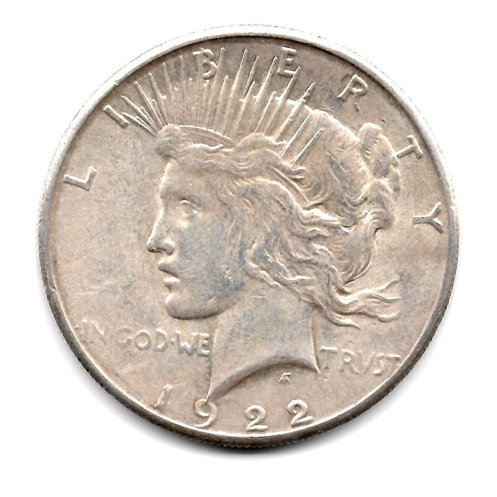 1922 S 1 Peace Dollar Peace Dollar Peace And Love Dollar