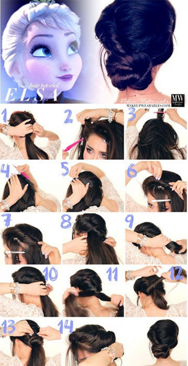 Clochette, Elsa, Jasmine les tutos coiffures de vos