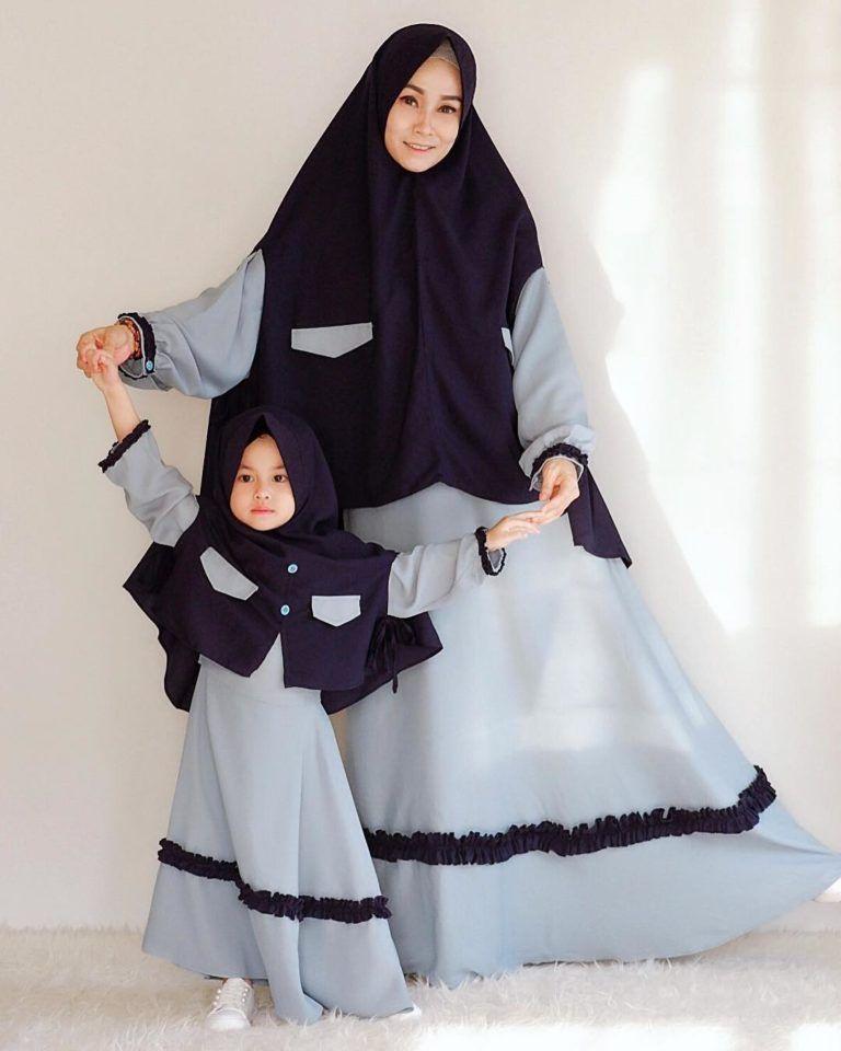 Contoh Model Gamis Couple Ibu Dan Anak Pakaian Bayi Perempuan Pakaian Gadis Gaun Gadis Kecil