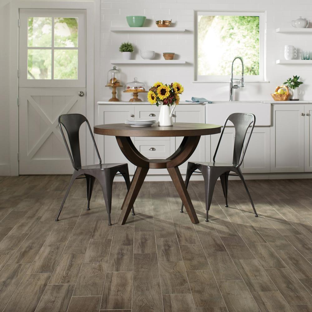 Lifeproof Sierra Wood 6 In X 24 In Porcelain Floor And Wall Tile