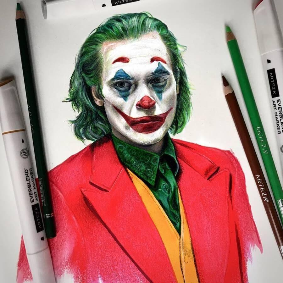 Superhero And Villain Pencil Drawings Part Ii In 2020 Joker Artwork Pencil Drawings Joker Drawings