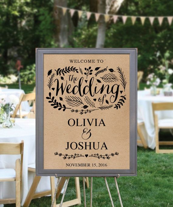 Wedding Welcome Sign Template - Editable PDF - Welcome to Our ...