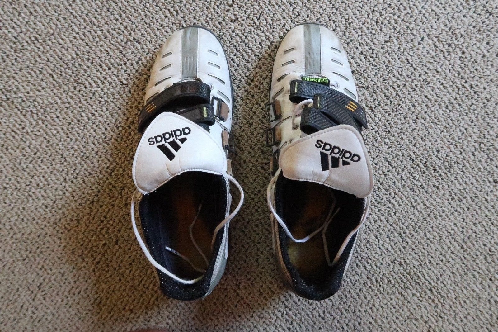 635041b5d4e8 2000 Adidas Weightlifting Shoes rare wood heel Used Size 13