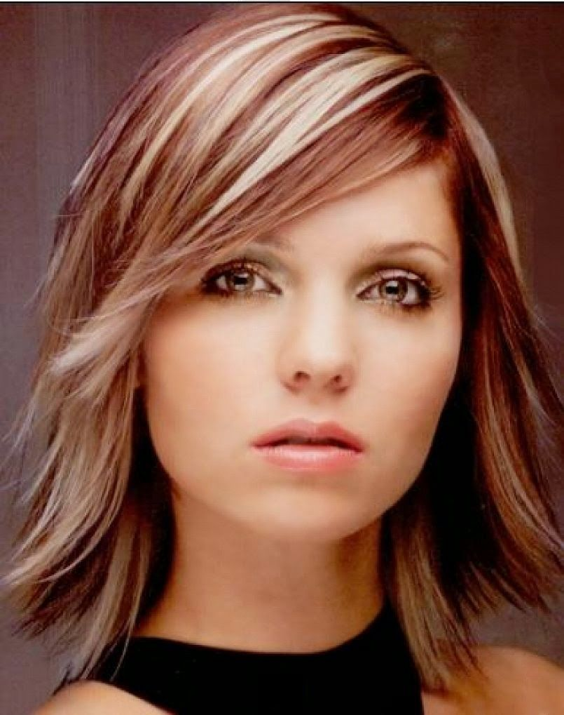 medium length layered hairstyles for young women : simple