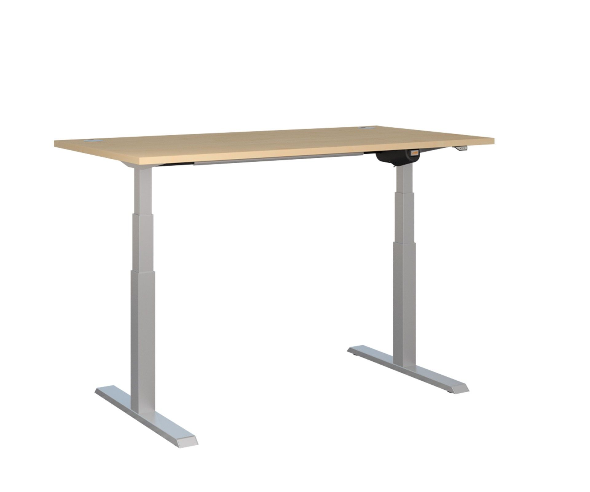 Captivating Unite Electric Height Adjustable Desk   Silver Frame |NEXT DAY DELIVERY |  This Height Adjustable