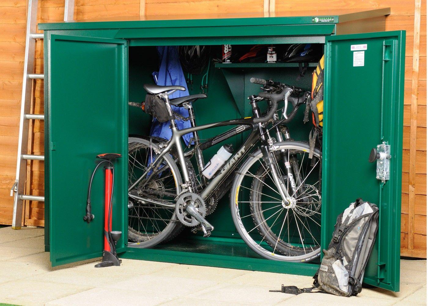 Asguard (UK) Website Metal Sheds Metal Bike Sheds School Storage & bicycle storage shed - Google Search | Sheds | Pinterest | Storage ...