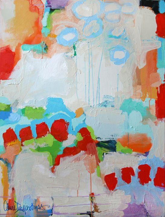 """""""Maybe You Should Drive"""" by Claire Desjardins - 30""""x40"""" - Acrylics on canvas. Private collection. 2011."""