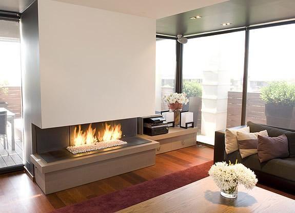 Resultado de imagen para chimeneas modernas a gas ideas casa - chimeneas modernas