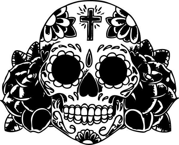 sugar skull outline tags tattoo sugar skull roses car truck