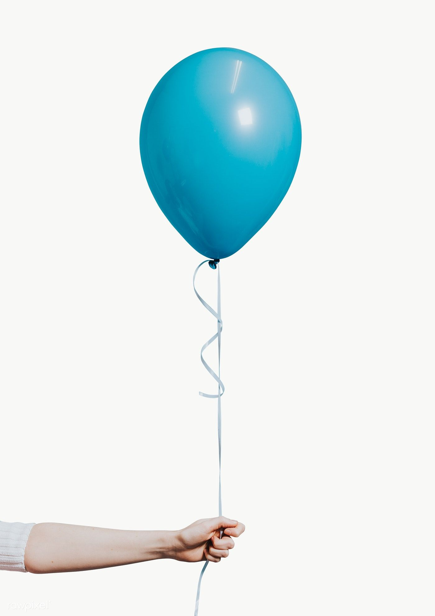 Girl Holding A Pastel Blue Balloon Free Image By Rawpixel Com Felix Blue Balloons Girl Holding Balloons Balloons