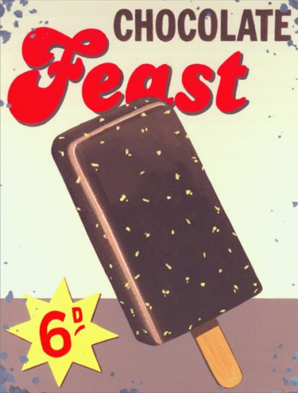 New Retro Feast Ice Cream 89 Vintage Style Metal Wall Plaque