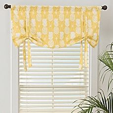 Image Of Pineapple Window Valance In Gold Valance Window Treatments Living Room Window Valance