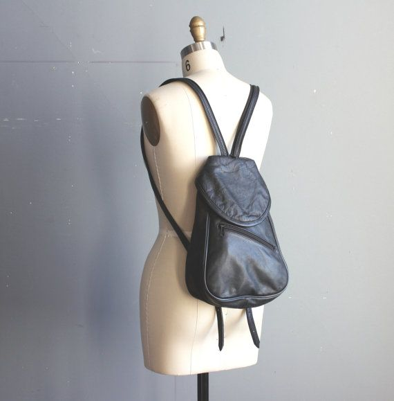 vintage leather backpack / convertible satchel by GazeboTree, $42.00