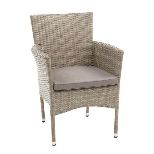 Capri Chateau Gray Woven Dining Chair with Cushion in 2019