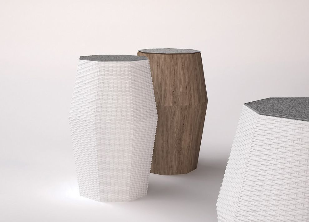 The Octagon Side Table Is Part Of The Exclusive Costa Ray Garden Furniture  Collection From Smania