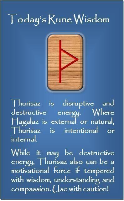 Thurisaz rune love